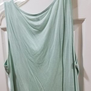 Large seafoam tank top